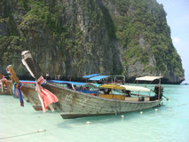 泰国小船的捕鱼 库存照片