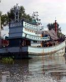 泰国小船的河 库存照片
