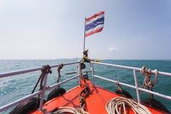 泰国小船船首  库存图片