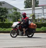 泰国岗位邮差和Motercycle  图库摄影