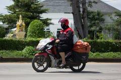 泰国岗位邮差和Motercycle  免版税图库摄影