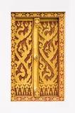 泰国工艺:赖泰国样式在寺庙窗口里 免版税图库摄影