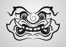 泰国巨型妖怪传染媒介eps10 概述海报的,纹身花刺,商标设计 库存照片