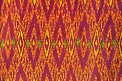 泰国布料的纹理 库存照片