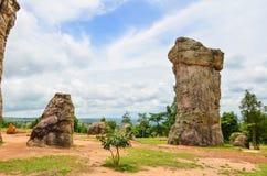 泰国平均观测距离Hin khao,古老奇怪的石头巨石阵  免版税库存照片