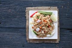 泰国开胃菜食物叫Mooh Nam 免版税图库摄影