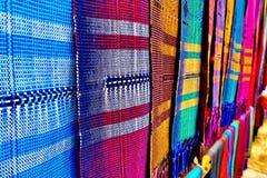 泰国当地布料在Chiangmai 库存图片