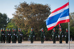 泰国战士在皇家泰国出兵日2014年 免版税图库摄影