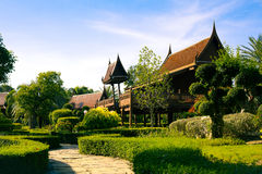泰国房子。 免版税库存照片