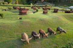 泰国房子在微型泰国公园 免版税库存图片