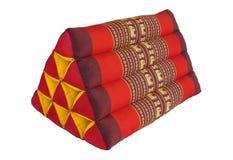 泰国手工三角枕头 免版税库存照片