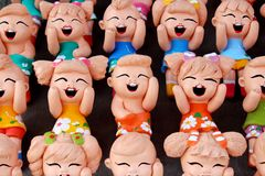 泰国手工制造滑稽的玩偶 免版税库存照片