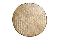 泰国手工造背景的竹织法样式 库存图片