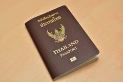 泰国护照有白色背景 库存图片