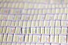 泰国抽奖券 图库摄影