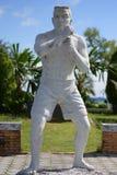 泰国拳击雕象 库存照片