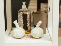 泰国按摩和芳香疗法的温泉治疗 库存图片