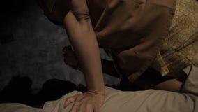 泰国按摩身体局部 影视素材