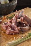 泰国放在架子上的羊羔 库存图片