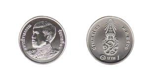 泰国新的硬币 免版税图库摄影