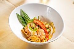 泰国新鲜的沙拉的海鲜 库存图片