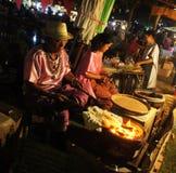 泰国旅游业节日2015年浮动食品批发市场 免版税库存照片