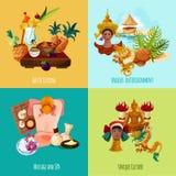 泰国旅游集合 免版税库存照片