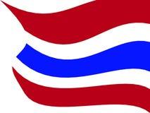 泰国旗子例证 免版税库存图片