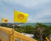 泰国旗子措施 免版税图库摄影