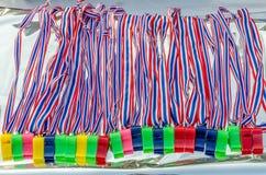 泰国旗子标志和口哨 库存照片