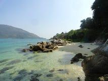 泰国日落海滩酸值lipe 图库摄影