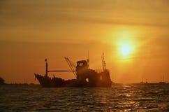 泰国日落 库存图片