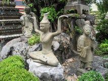 泰国曼谷市全景亚洲文化和雕塑 库存图片
