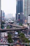 泰国曼谷摩天大楼大厦议院街道Skytrain 免版税库存图片