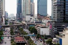 泰国曼谷摩天大楼大厦议院街道Skytrain S 库存图片