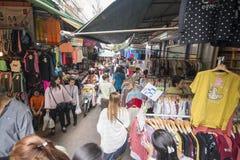 泰国曼谷晁PHRAYA THONBURI市场 免版税库存照片