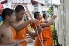 泰国曼谷黎明寺LOY KRATHONG 免版税库存图片