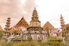 泰国曼谷WAT KALAYANAMIT 库存图片
