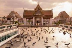 泰国曼谷WAT KALAYANAMIT 图库摄影