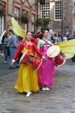 泰国服装在爱丁堡 库存照片
