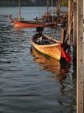 泰国木小船 库存照片