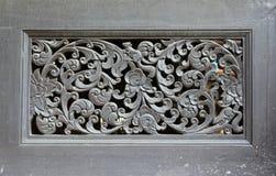 泰国木工艺盘区 免版税库存照片
