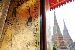 泰国木雕塑男性角度 库存照片