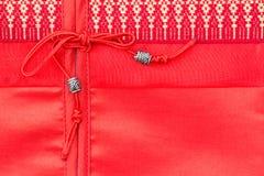 泰国样式丝绸坐垫枕头纹理盖子 免版税图库摄影
