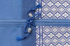 泰国样式丝绸坐垫枕头纹理盖子 免版税库存照片