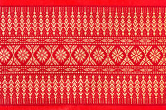 泰国样式丝绸坐垫枕头纹理盖子 库存照片
