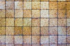 泰国样式传统砖墙 库存图片