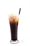 泰国样式冰了咖啡用牛奶(O'leng) 免版税库存照片
