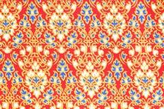 泰国样式布料纹理  免版税库存照片