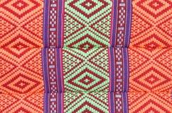 泰国样式当地人纺织品 免版税库存照片